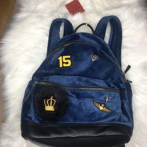 NWT Mossimo Navy Velvet Backpack